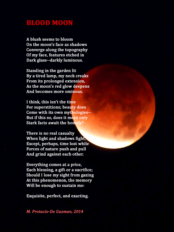 Poem by M. Protacio-De Guzman Photo courtesy of the internet