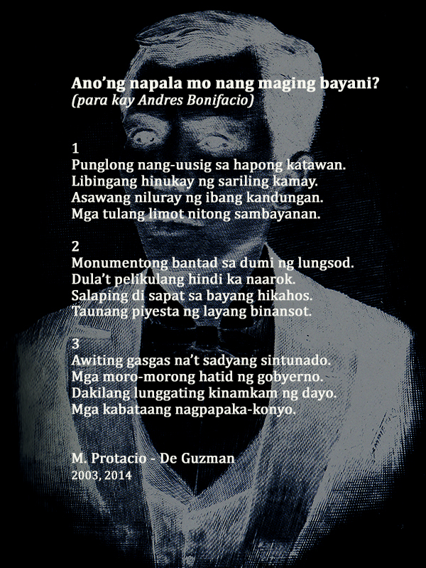 Poem by M. Protacio-De Guzman Image courtesy of NCCA